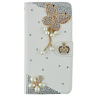 Кейс для Назначение SSamsung Galaxy S7 edge S7 Кошелек Бумажник для карт Стразы со стендом Флип Чехол Бабочка Твердый Искусственная кожа