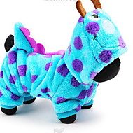 voordelige Dierbenodigdheden accessoires-Hond kostuums Hoodies Jumpsuits Hondenkleding Cartoon Blauw Katoen Kostuum Voor huisdieren Heren Dames Schattig Cosplay