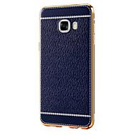 Til Samsung Galaxy C7 C5 Plating Taske Bagside Cover Solid Farve Soft TPU