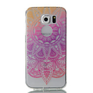 Недорогие Чехлы и кейсы для Galaxy S-Кейс для Назначение SSamsung Galaxy S7 edge / S7 Ультратонкий / Прозрачный / С узором Кейс на заднюю панель Цветы Мягкий ТПУ для S7 edge / S7 / S6 edge