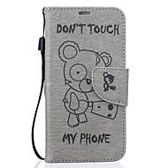 Недорогие Чехлы и кейсы для Galaxy S7-Кейс для Назначение SSamsung Galaxy S7 edge S7 Бумажник для карт Кошелек со стендом С узором Рельефный Чехол Мультипликация Твердый Кожа