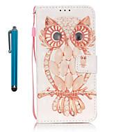 Для Кошелек / Бумажник для карт / со стендом Кейс для Чехол Кейс для Сова Твердый Искусственная кожа SamsungS7 edge / S7 / S6 edge / S6 /