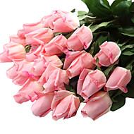 preiswerte Schreibwaren-Künstliche Blumen 12 Ast Moderner Stil Rosen Tisch-Blumen