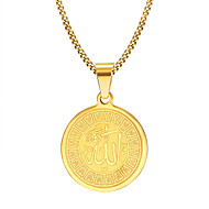 Men's Pendant Necklaces Jewelry Party/Birthday/Daily/Casual Fashion Gold Plated Stainless Steel Golden 1pc  Christmas Gifts