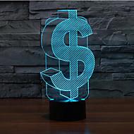Χαμηλού Κόστους Νυχτερινές Λάμπες LED-αφής δολάριο dimming 3D LED φως τη νύχτα 7colorful διακόσμηση φανού ατμόσφαιρα καινοτομία φωτισμού φως των Χριστουγέννων