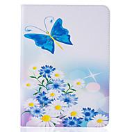 Для Кошелек / Бумажник для карт / со стендом / Флип / С узором / Рельефный Кейс для Чехол Кейс для Цветы Твердый Искусственная кожа
