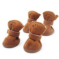 Σκυλιά Παπούτσια & Μπότες Μοντέρνα / Διατηρείτε Ζεστό Χειμώνας / Άνοιξη/Χειμώνας Μονόχρωμο Καφέ / Ροζ Βαμβάκι