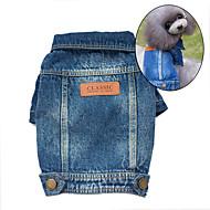 강아지 데님 자켓 강아지 의류 귀여운 카우보이 패션 청바지 블루 코스츔 애완 동물