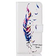 Недорогие Чехлы и кейсы для Galaxy J-Кейс для Назначение SSamsung Galaxy J5 (2016) J3 (2016) Бумажник для карт Флип С узором Чехол  Перья Твердый Искусственная кожа для J5