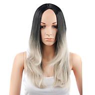 お買い得  -人工毛ウィッグ ストレート 合成 かつら 女性用 キャップレス ジェットブラック