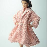 캐쥬얼 더 많은 악세서리 에 대한 Barbiedoll 폴라 플리스 코트 에 대한 여자의 인형 장난감