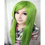 お買い得  -人工毛ウィッグ / コスチュームウィッグ ストレート 合成 グリーン かつら 女性用 非常に長いです キャップレス グリーン hairjoy