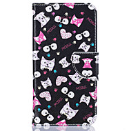 Card Holder Wallet with Stand  Cartoon Pattern Case Full Body Case Hard PU Leather for Samsung Galaxy J5 (2016) J5 J3 J1 (2016)