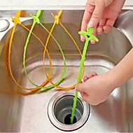olcso Fürdőszobai kütyük-konyha cső kotrási horog kotrás készülék csatornarendszer hazai mosogató vízelvezető tiszta Kellogg hook horog (véletlenszerű szín)