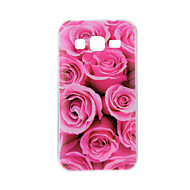 Dla samsung galaxy j7 j5 pokrowiec cover rose petal painted pattern tpu material phone case