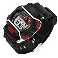 Недорогие Фирменные часы-SANDA Спортивные часы Смарт Часы Наручные часы Цифровой Японский кварц 30 m Защита от влаги Секундомер LED силиконовый Группа Цифровой На каждый день Мода Черный - Красный Синий Охотничий зеленый