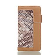 Кейс для Назначение SSamsung Galaxy S7 edge S7 Кошелек Бумажник для карт со стендом Флип Чехол Полосы / волосы Твердый Искусственная кожа