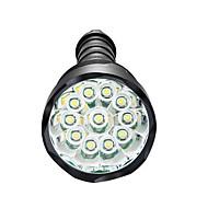 billige Lommelygter-LED Lommelygter LED 3800 lm 5 Tilstand LED Dæmpbar Vandtæt Super let Højstyrke Camping/Vandring/Grotte Udforskning Dagligdags Brug