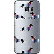 olcso Galaxy S6 Edge Plus tokok-Case Kompatibilitás Samsung Galaxy S7 edge S7 Minta Fekete tok Kutya Puha TPU mert S7 edge S7 S6 edge plus S6 edge S6