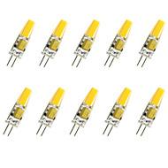 お買い得  LED コーン型電球-10個 1.5W 200-250lm G4 LEDコーン型電球 T COB LEDビーズ COB 装飾用 温白色 / クールホワイト 12V
