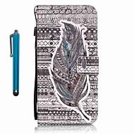 Недорогие Чехлы и кейсы для Galaxy A5(2016)-Кейс для Назначение SSamsung Galaxy A5(2016) A3(2016) Бумажник для карт Кошелек со стендом Чехол  Перья Твердый Кожа PU для A5(2016)