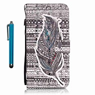 voordelige Galaxy A3(2016) Hoesjes / covers-hoesje Voor Samsung Galaxy A5(2016) A3(2016) Kaarthouder Portemonnee met standaard Volledig hoesje Veren Hard PU-nahka voor A5(2016)