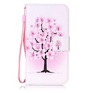 Для Кошелек / Бумажник для карт / Флип / С узором Кейс для Чехол Кейс для дерево Твердый Искусственная кожа для SamsungS7 edge / S7 / S6