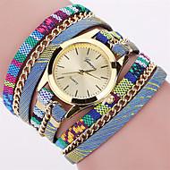 Dames Modieus horloge Polshorloge Armbandhorloge Kwarts Punk Kleurrijk Stof BandVintage Bohémien Bedeltjes Bangle armband Cool