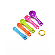 abordables Medidores y Balanzas-puede decimoquinto de acero inoxidable 5 de medición ajustado taza de la cuchara