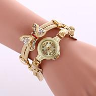 voordelige Bohémien horloges-Dames Dress horloge Modieus horloge Polshorloge Armbandhorloge Kwarts Kleurrijk Legering BandVintage Glitter Vlinder Bohémien Bedeltjes