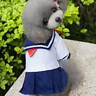 お買い得  -ネコ 犬 コスチューム ドレス 犬用ウェア セーラー ブルー コットン コスチューム ペット用 女性用 コスプレ ファッション