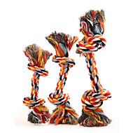 Koirat Lemmikkieläinten lelut Hampaidenpuhdistus lelu Köysi Multicolor Puuvilla