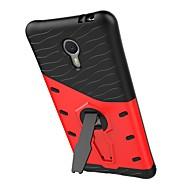 billige Mobilcovers-Til meizu m3 note rustning mønster med stand plating bagcover case hard pc