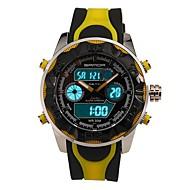 billige -SANDA Herre Militærklokke Smartklokke Moteklokke Armbåndsur Sportsklokke Digital Japansk Quartz Kronograf Vannavvisende LED Dobbel