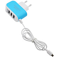 Home Charger / Portable Charger USB Charger EU Plug Fast Charge / Multi Ports 3 USB Ports 3.1 A for