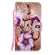 Недорогие Чехлы и кейсы для Galaxy A3(2017)-Кейс для Назначение SSamsung Galaxy A7(2017) A3(2017) Бумажник для карт Кошелек со стендом Кейс на заднюю панель Цветы Твердый Кожа PU для