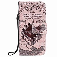 Castle Painting PU Phone Case for apple iTouch 5 6 iPod Cases/Covers