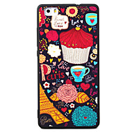 Для huawei p8 p9 coffee pattern tpu материал окрашенный рельефный телефон чехол для p8 lite p9 lite y5ii honor5a honor8 mate7