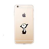 tanie Etui do iPhone-Na Przezroczyste / Wzór Kılıf Etui na tył Kılıf Zabawa z logiem Apple Miękkie TPU na AppleiPhone 7 Plus / iPhone 7 / iPhone 6s Plus/6