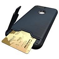 お買い得  携帯電話ケース-ケース 用途 Google カードホルダー スタンド付き バックカバー 純色 ハード PC のために Google Pixel XL Google Pixel