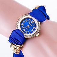 Недорогие Женские часы-Жен. Часы-браслет Модные часы Кварцевый / Повседневные часы Материал Группа Цветы На каждый день Черный Белый Красный Зеленый Розовый