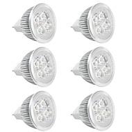 お買い得  LED スポットライト-6本 350lm GU5.3(MR16) LEDスポットライト MR16 LEDビーズ ハイパワーLED 温白色 クールホワイト 12V