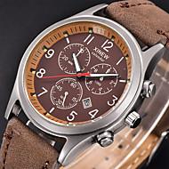 Недорогие Мужские часы-Муж. Наручные часы Армейские часы Спортивные часы Кварцевый Цифровой Календарь звездный Кожа Группа Винтаж На каждый день Cool Черный