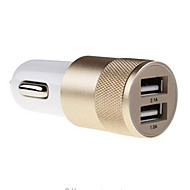 Недорогие Автомобильные зарядные устройства-Автомобильное зарядное устройство Телефон USB-зарядное устройство Универсальный 2 USB порта 2.1A AC 100V-240V Для мобильного телефона