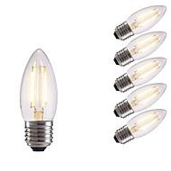 お買い得  -GMY® 6本 2 W 250 lm E26 / E27 フィラメントタイプLED電球 2 LEDビーズ COB 温白色 / クールホワイト 220-240 V / 6個 / RoHs