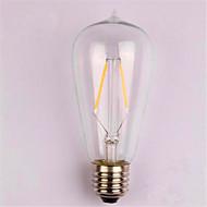 olcso LED izzólámpák-1db 2 W 200 lm E26/E27 Izzószálas LED lámpák ST58 2 led COB Dekoratív Meleg fehér AC 220-240V