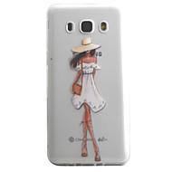 Etui Käyttötarkoitus Samsung Galaxy J5 (2016) J3 (2016) Läpinäkyvä Kuvio Takakuori Sexy Lady Pehmeä TPU varten J5 (2016) J5 J3 (2016) J3