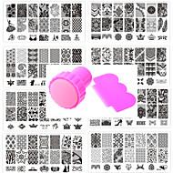 abordables Maquillaje y manicura-10 pcs Estampado de placa Modelo Diseños de Moda arte de uñas Manicura pedicura Elegante / Accesorios / Flor / Placa de estampado