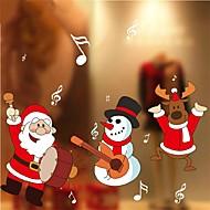 abordables Adornos de Navidad-Moderno Adhesivo para Ventana, PVC/Vinilo Material decoración de la ventana Comedor Oficina Sala de niños Salón Shop / Cafe
