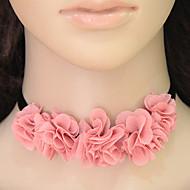 Женский Ожерелья-бархатки В форме цветка Ткань Цветочный дизайн Цветы Цветочный принт Мода европейский Бижутерия Назначение Повседневные